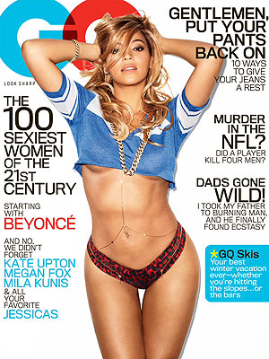 Beyonce on the cover of GQ (via People magazine)