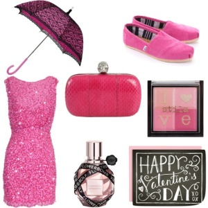 Valentine Love: Pink (via Polyvore)