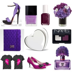 Valentine Love: Purple (via Polyvore)