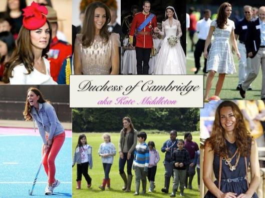 Duchess of Cambridge, aka Kate Middleton