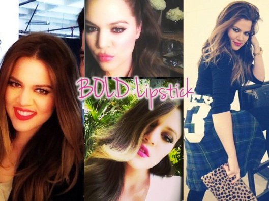 Khloe Kardashian Beuaty - Bold Lipstick