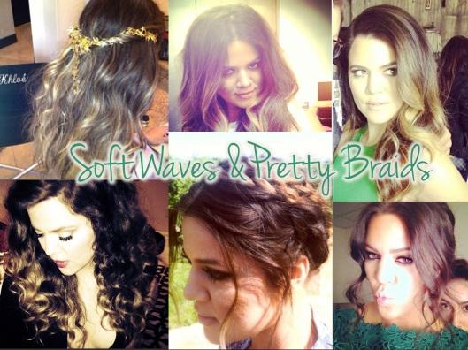Khloe Kardashian Beauty - Soft Waves and Pretty Braids