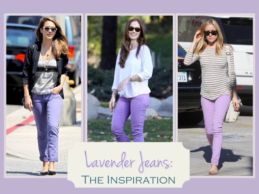 Celebrities in Lavender Jeans
