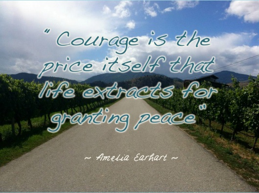 Amelia Earhart Quote, Courage