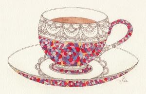 "Links of the Week, Lady In Charge, Mariya Paskovsky - ""Tea Cup illustration2"""
