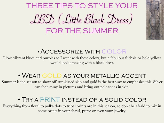 How to Style a LBD (Little Black Dress) for Summer