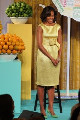 Michelle Obama, Lady of Style, Style, Red, Coats, Floral Prints