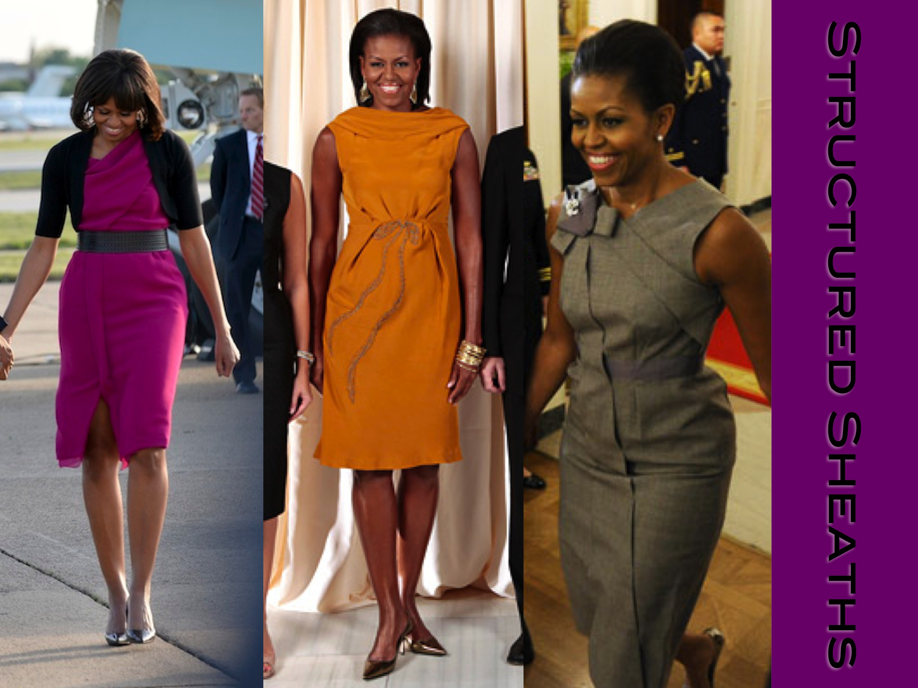 Michelle obama style lady of style sheath dresses