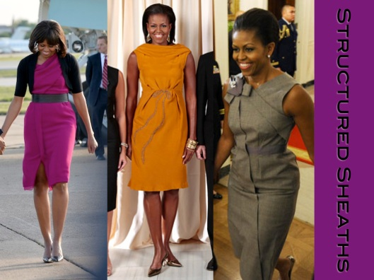 Michelle Obama, Style, Lady of Style, Sheath Dresses