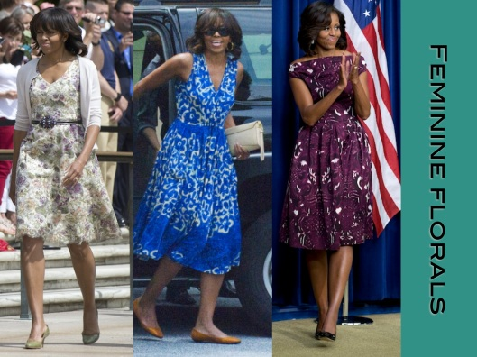 Michelle Obama, Style, Lady of Style, Floral Dresses