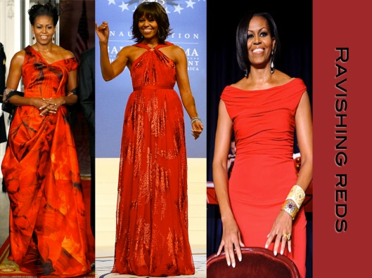 Michelle Obama, Style, Lady of Style, Red Dress