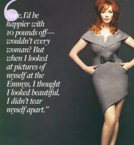 Beauty and the Body Image Beast, Christina Hendricks, Body Image