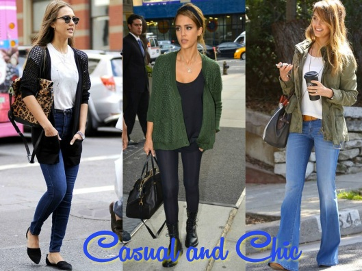 Jessica Alba, Dressed Up Denim, Casual Style