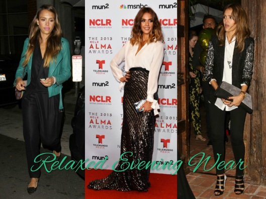 Jessica Alba, Relaxed Style, Evening Style