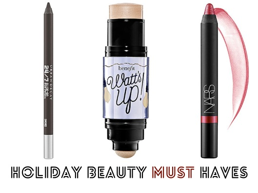 Holiday Beauty Must Haves, Nars, Benefit, Urban Decay