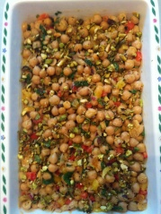 Mint and Chick Pea Salad, Healthy Recipe
