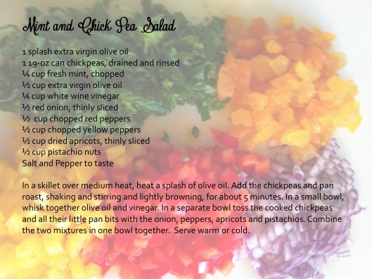 Mint and Chick Pea Salad, Healthy Comfort Food Healhty