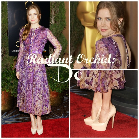 Pantone Colour of the Year 2014, Radiant Orchid, Amy Adams