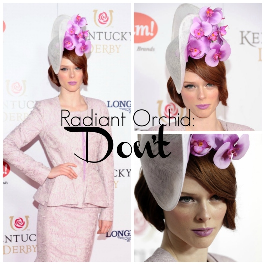 Pantone Colour of the Year 2014, Radiant Orchid, Coco Rocha