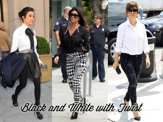 Kourtney Kardashian, Style, Lady of Style, Black and White