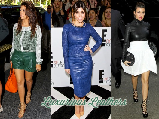 Kourtney Kardashian, Style, Lady of Style, Leather, Coloured Leather
