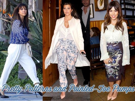 Kourtney Kardashian, Style, Lady of Style, Prints, Cream, Manolo Blahnik