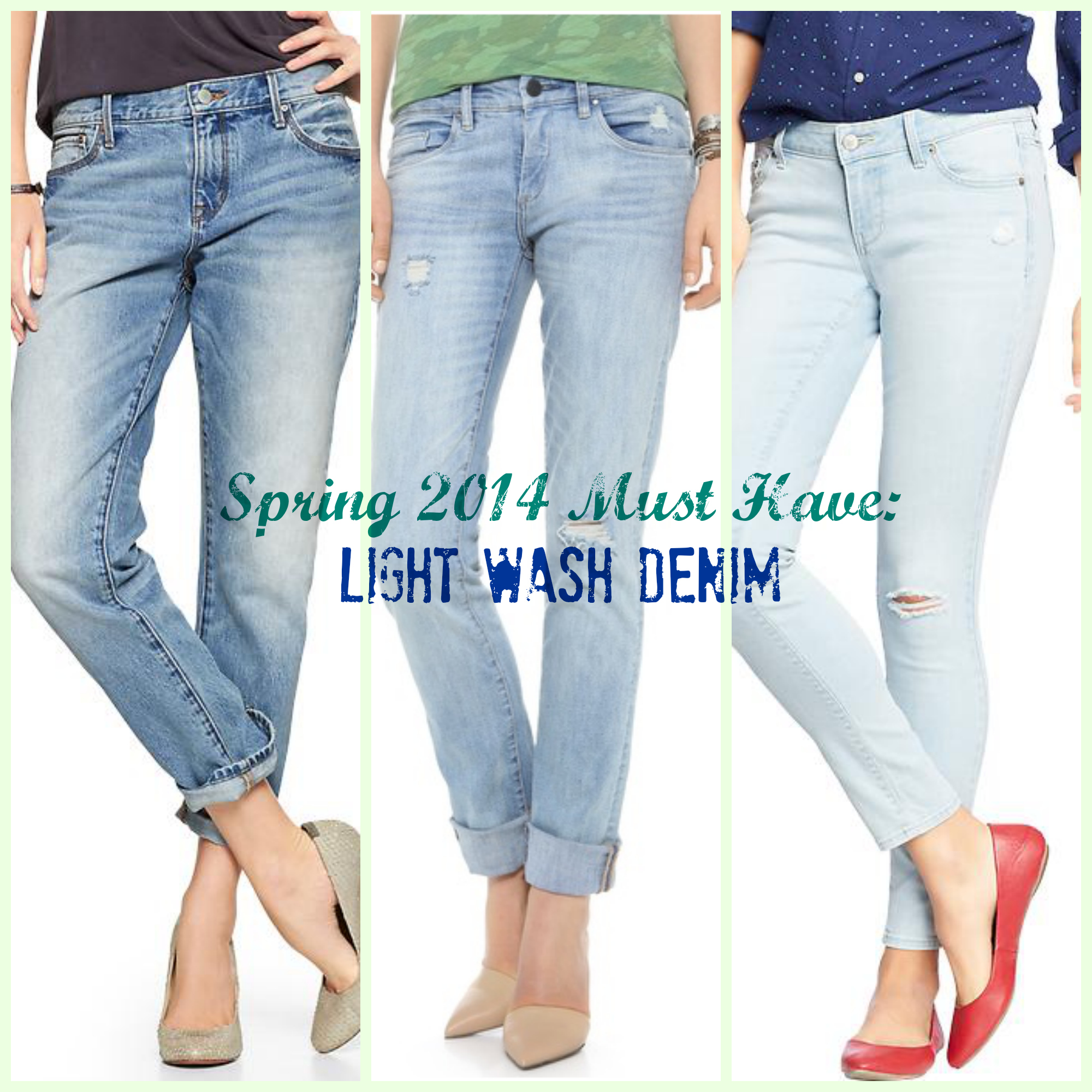 Spring 7 Fashion Must Have: Light Wash Denim  Lady In Charge